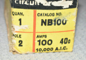 New Federal Pacific Nb100 2 Pole Circuit Breaker Bolt On Fpe 100a 240v
