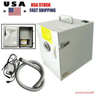 Dental Lab Digital Single row Dust Collector Bench Vacuum Cleaner 370w Cleaning
