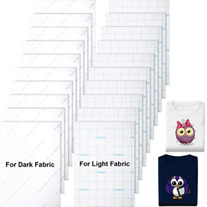 20 Pieces Printable Heat Transfer Paper Fabric Transfer Paper For Dark And Light