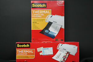Scotch Thermal Laminator Machine Portable Warms Up Tl902 W 50 Pouches All New