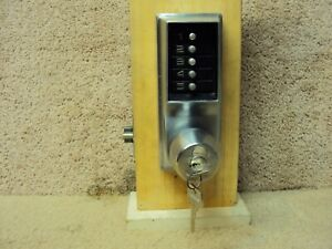 Kaba Simplex Ilco Unican Old Style 1021 Lock Over Ride Core Installed W keys