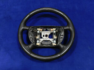 99 00 01 02 03 04 Ford Mustang Fr500 Charcoal Leather Steering Wheel V95