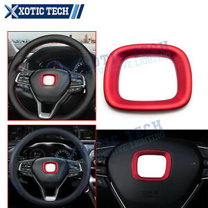 1pc Jdm Racing Interior Center Steering Wheel Logo Abs Cover For Honda Accord