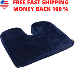 Ortho Wedge Cushion Car Seat Pad Pillow Protect Lower Back Spinal Pain Arthritis