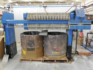 Jwi 630g32 10 13 3 4syls 8 Cu Ft Air over hydraulic Filter Press W plate Shifter