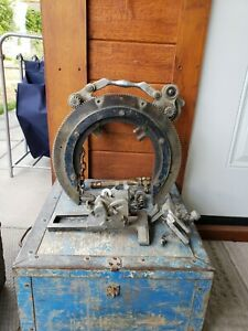 H m Pipe Beveler Bevelling Machine Saddle With Torch