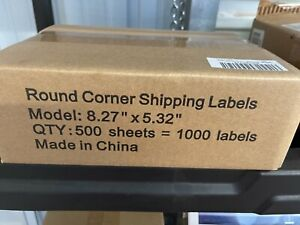 1000 Shipping Labels 8 27 X 5 32 Rounded Corner Self Adhesive 2 Per Sheet