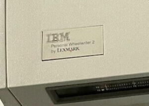 Used Certified Ibm Wheelwriter Personal 2 Front Panel Badge W warranty