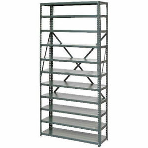 Open Style Steel Shelf With 11 Shelves 36 wx12 dx73 h