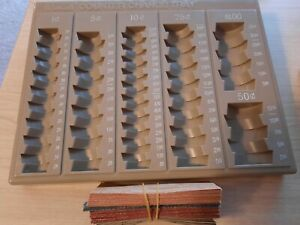 Coin Counter Sorter Money Tray With 60 Coin Roll Wrappers