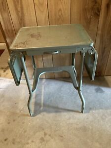 Luxco Vintage Typewriter Stand table Desk Grey Industrial