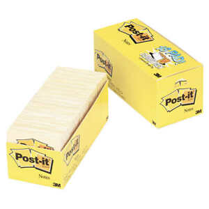 Post it Notes Canary Yellow 3 X 3 18 pack