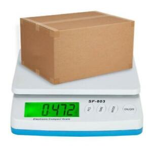 66 Lb X 0 1oz Digital Shipping Scale With Ac Adapter Post Office Postal Scale