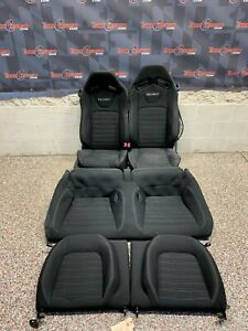 2015 Ford Mustang Gt Oem Black Cloth Recaro Front Rear Seats One Blown Bag