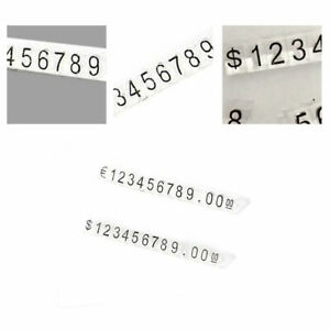30x Plastic Cubes Price Tags Display Adjustable Number Stand Frame Labels Shop