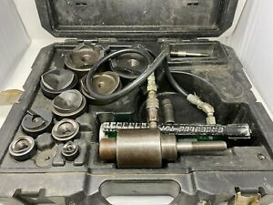 Greenlee 767 Hydraulic Knockout Punch Set W Plastic Case