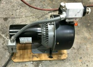 Varian Vacuum Pump W Isolation Valve And 1 Hp Franklin Electric Motor