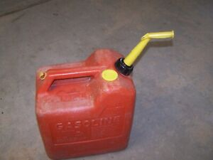 Vintage Chilton Gas Can 6 Gallon Rear Vented Red Poly Model P60