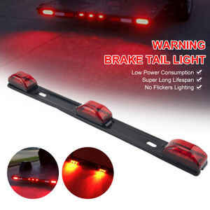 15 Stainless Red Led Id Bar Light Truck Boat Trailer Marker Clearance Lights