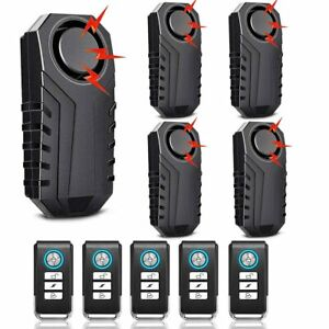 Wireless Bike Alarm With Remote 113db Anti theft Vibration Bicycle Motorcycle Us