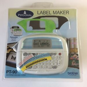 Brother Pt 90 Personal Label Maker Electronic Thermal Printer W Starter M Tape