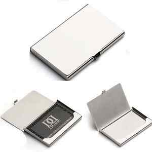 Stainless Steel Silver Aluminium Business Id Credit Card Holder Pocket Box Case