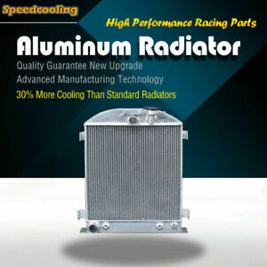 Aluminum Radiator Fit Ford Chopped Ford Engine 1932 L4 62mm 3 Row At