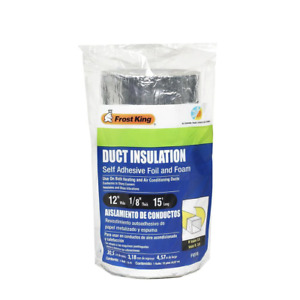 Frost King Duct Insulation 12 In H X 180 In D Self Adhesive Foam foil