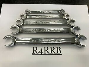 Snap on Tools 5pc Sae 1 4 13 16 Sae Double Flare Nut Line Wrench Set Rxfs605b