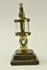 Antique Essex Brass Corp Sight feed Glass Body Oil Cup 02216