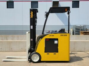 2014 Yale Esc040acn36te088 Electric Narrow Aisle Forklift Forktruck Crown Hyster