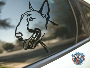 Bull Terrier Sticker Dog Car Decal English Bull Terriers Dogs Puppy Silhouette
