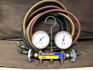Yellow Jacket A c Manifold Gauges And Hoses Used