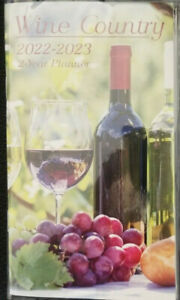 2022 2023 2 year Pocket Planner wine Country For School Work Appointment W