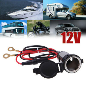 12v 120w Universal Car Auto Suv Boat Tractor Lighter Power Socket Outlet Plug
