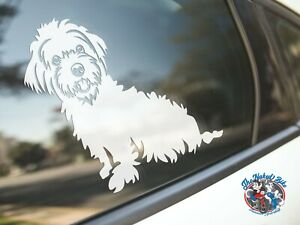 Maltese Sticker Dog Car Decal Cute Dogs Breed Silhouette Stickers