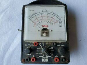 Vintage Eico Range Ics Electric Volt Meter Untested Sold As Is Exact Item Shown
