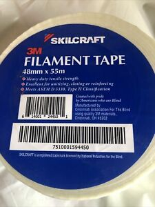 Skilcraft Filament strapping Tape 48mm X 55m White clear