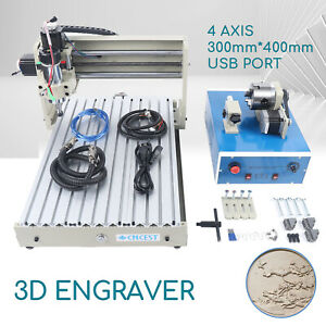 Usb 4 Axis 400w Cnc 3040 Router Engraver Wood Carver Drilling Milling Machine Ce