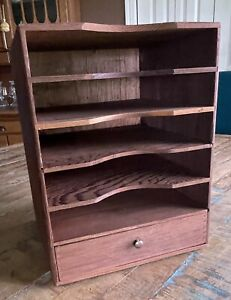 Kingsley Machine Company Wood Cabinet For Type Set Boxes With Bottom Drawer