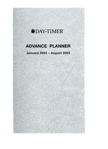 Day timer 2022 20 month Advance Planner Compact Size 3 X 5