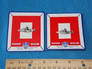 LOT OF 2 MEYER US NAVY NUCLEAR SUBMARINE BADGE 1 20 SF SILVER FILLED $15.95