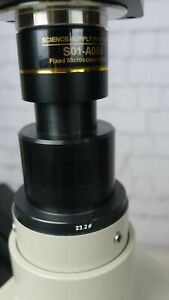 Nikon Labophot Microscope W 5 Objectives Phase Contrast Fluor And Cfn
