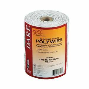 Dare 1312 Ft Polyethylene W stainless Steel Strands Electric Fence Poly Wire