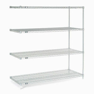 Nexel Stainless Steel Wire Shelving Add on 60 w X 18 d X 63 h