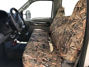 F23 Mw Ford F series F150 Front Bench Muddy Water Camo High Back Seat Cover