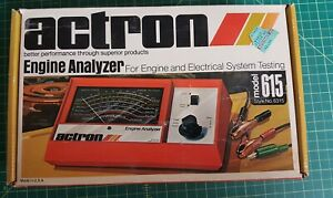Clean Vintage Actron 615 Engine Analyzer With Original Box Instructions