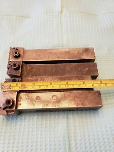 Indexable Lath Tooling Lot Of Four 1 Sq Shank Lathe Tooling