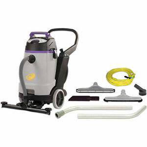 Proteam Proguard 15 Gallon Wet dry Vacuum W front Mount Squeegee