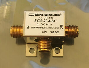 Mini Circuits Zx30 20 4 s 20 5db Directional Coupler 5 1000 Mhz 50ohm Sma